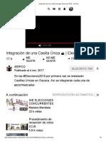 -Integración de Una Casilla Única _ Elecciones 2018 - YouTube