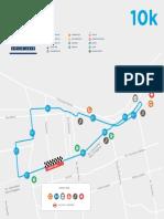 Recorrido 10k - Maratón de Santiago 2019
