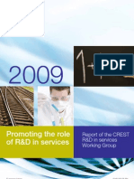 Role of R^D in Services Crest 2009