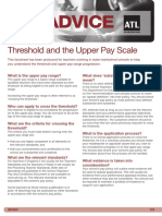 Adv4 Threshold and Upper Pay Scale