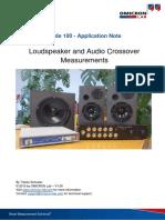 2b-App Note Loudspeaker Audio Crossover Measurements V1 0