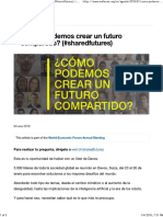 Cómo Crear Un Futuro Compartido - The World Economic Forum
