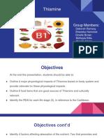 Thiamine Presentation