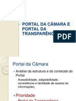 PORTAL DA CÂMARA E PORTAL DA TRANSPARÊNCIA