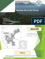 Parque Nacional Sierra Del Divisor SISTEMA EDAFOLOGICO