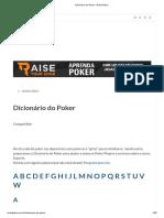 Dicionário Do Poker - Brasil Poker