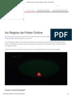 Regras de Poker - Aprenda as Regras de Poker No PokerStars