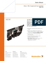 Ex Fuse Holder Terminal Block - Weidmuller_ WSI4-2