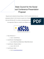 nscss annual conference presentation proposal