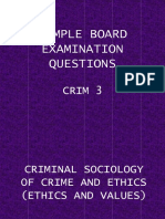 Sample Board Examination Questions