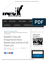 Reader's Top 100 Progressive Rock Bands and Artists of All Time