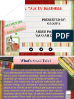 Ppt Small Talk in Business Group 2