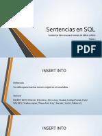 Sentencias en SQL2