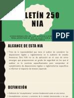 Boletín 250 de las NIA