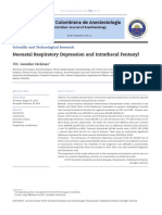 Neonatal Respiratory Depression and Intrathecal Fentanyl