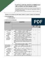 PLANIFICACION CURRICULAR MODELO 5° GRADO