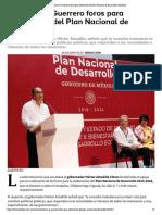 10-03-2019 Realizan en Guerrero foros para elaboración del Plan Nacional de Desarrollo.