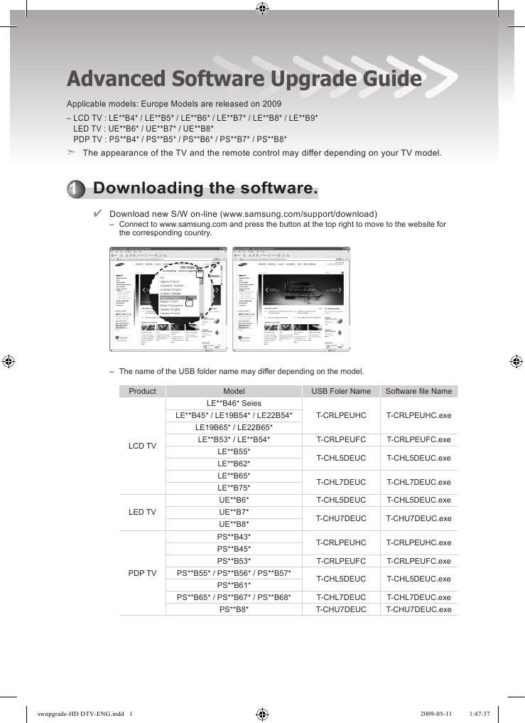 samsung lcd tv software upgrade download