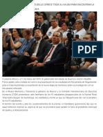 11-03-2019 El gobernador Héctor Astudillo ofrece toda su ayuda para encontrar la verdad en el caso Ayotzinapa.