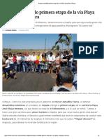 12-03-2019 Inaugura Astudillo primera etapa de la vía Playa Azul-Playa Ventura.