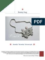 Crochet Pattern No 18F2 Bunny Bag