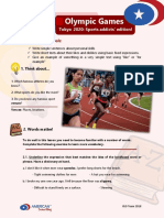 a2 Writing Assessment 1 Olympic Games 2020 Sport Addicts Edition