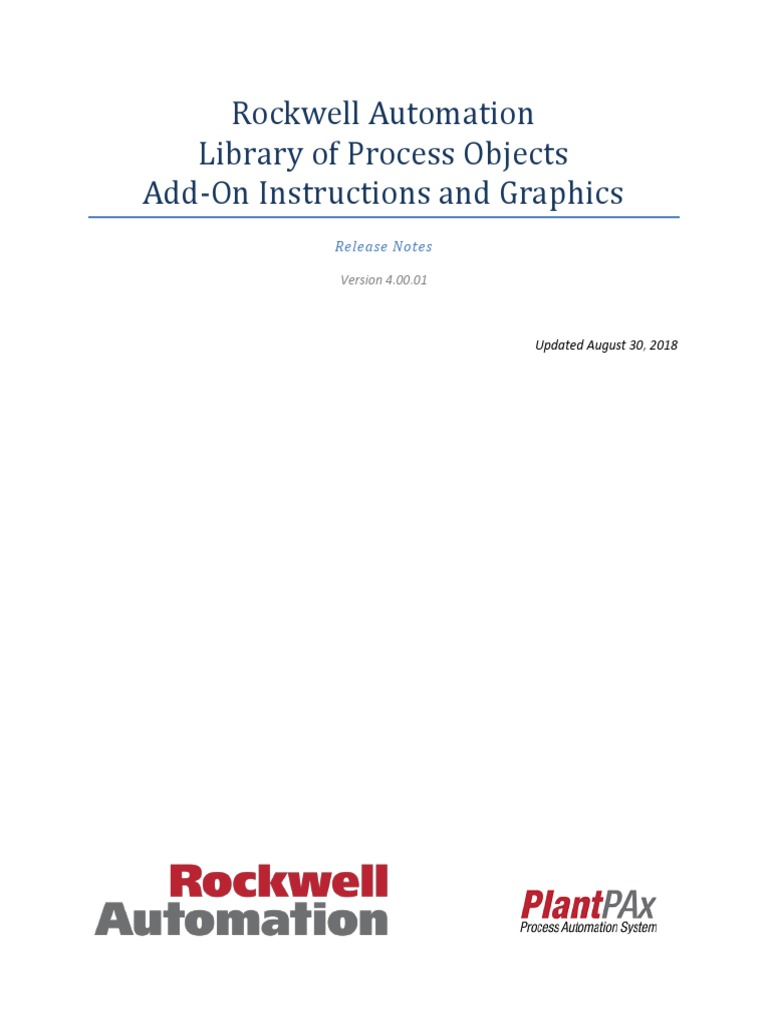 Rockwell Automation Library of Process Objects 4 0-01
