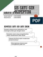 Satu Gen Satu Polipeptida