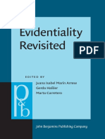 Evidentiality Revisited - Cognitive Grammar, Functional and Discourse-pragmatic Perspectives