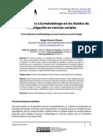 Chaverri D. - De los métodos a la metodología en los diseños de investigación en ciencias sociales