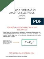 Energia y Potencia en Circuitos Electricos
