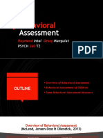 Behavioral Assessment Intro