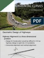 CE 121_LEC3_HORIZONTAL CURVES (SIMPLE, COMPOUND, REVERSE, SPIRAL).pdf