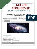 Guía de aprendizaje  QUÍMICA  1S - LA MATERIA.pdf