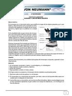Practica de laboratorio sobre el uso y cuidados del microscopio