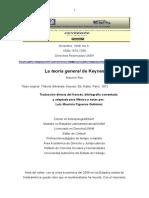 Teoria General de Keynes, El DineroMauricio-Keynes