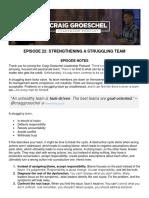 Strengthening a Struggling Team