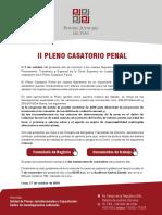 Afiche II Pleno Casatorio Penal 2018