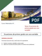 02 - Ecuaciones de Primer Grado Con Una Variable