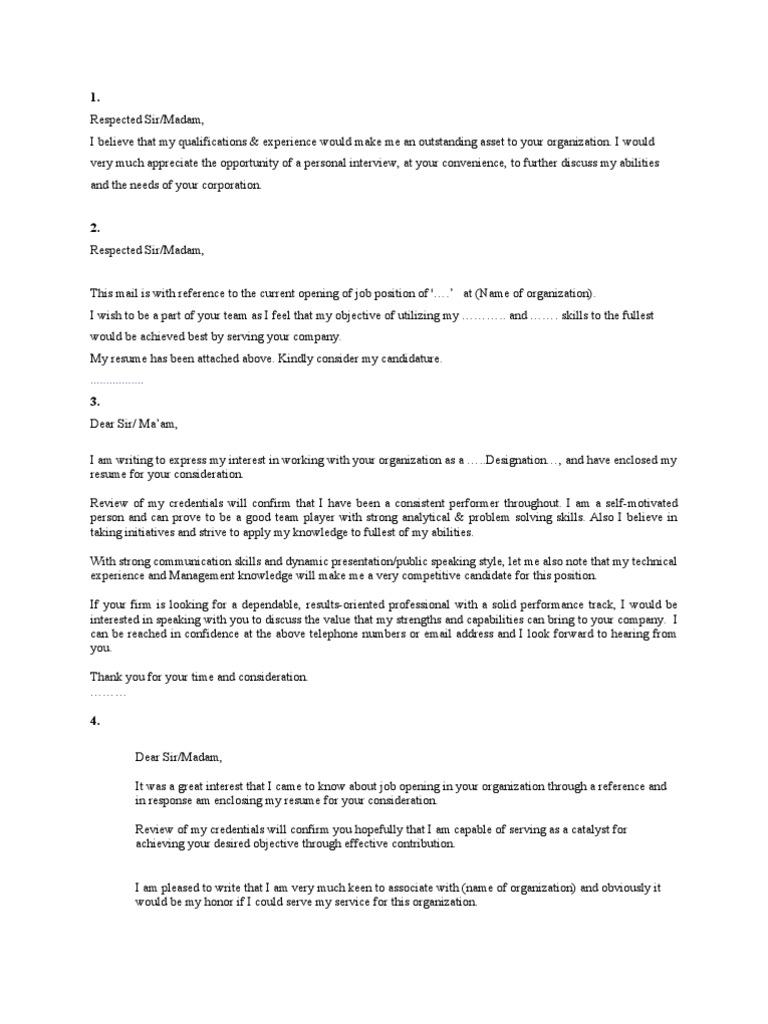 25 Cover Letters | Résumé | Behavioural Sciences