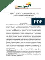 A IMERSÃO TEÓRICO-PRÁTICA NA FORMAÇÃO DE PROFESSORES