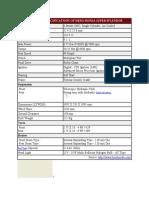 Technical Specifications of Hero Honda Super Splendor