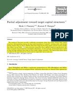 Paper 2. 2006, Partial adjustment toward target capital structures aquí.pdf