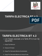 Tarifa Electrica Bt-At 4.3