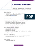 Upsc Books List PDF