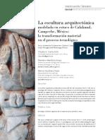 La escultura arquitectónica modelada en estuco de Calakmul, Campeche, México