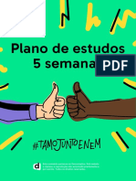 Plano 5 Semanas Enem