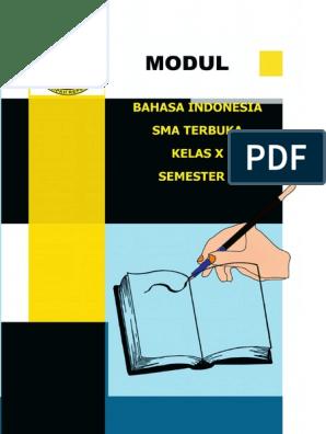 Bahasa Indonesia Kelas X Semester 1 Cetak Pdf