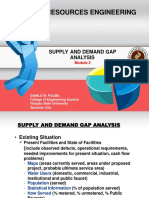 2. Supply and Demand Gap Analysis