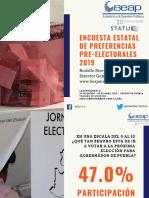 Preferencias Preelectorales Estatal 2019
